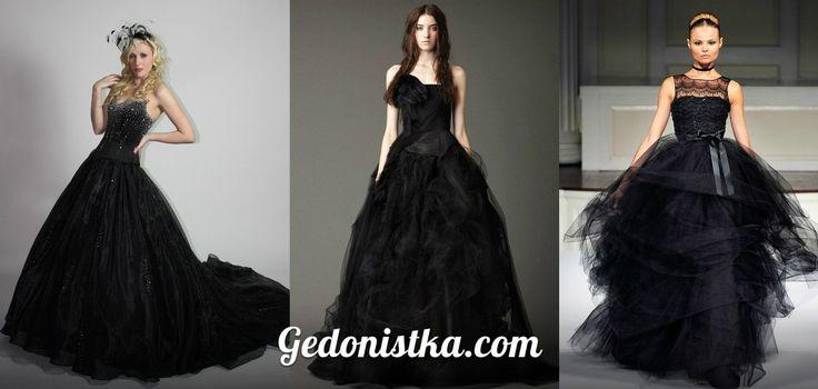 Подборка свадебных платьев черного цвета