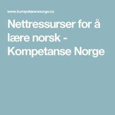 Nettressurser for å lære norsk - Kompetanse Norge