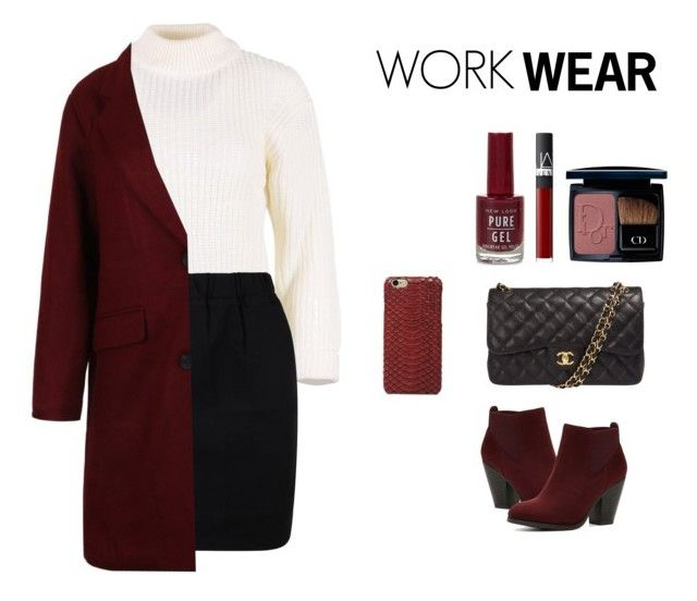 """""""ililily work wear"""" by ililily ❤ liked on Polyvore featuring Chanel, Call it SPRING, NARS Cosmetics, Christian Dior, WorkWear, office, Work, officewear and polycore"""