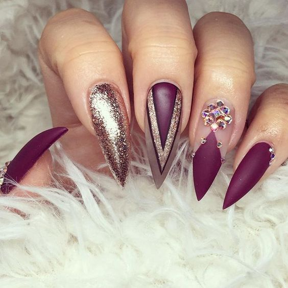 77 Best Stiletto Nail Art Designs 2019 – Beste Trendmode – Best 2019 Nails