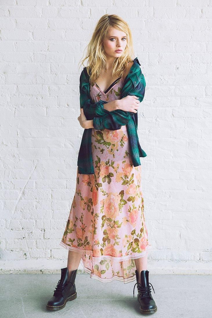 Betsey Johnson Vintage For UO Tori Pink Slip Dress #UOxBetsey