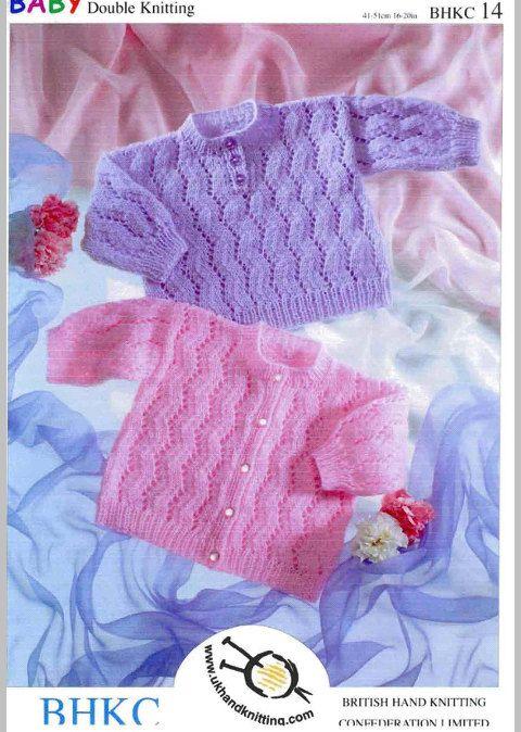 Chaqueta de bebé y suéter que hace punto patrones por EdithCrafts