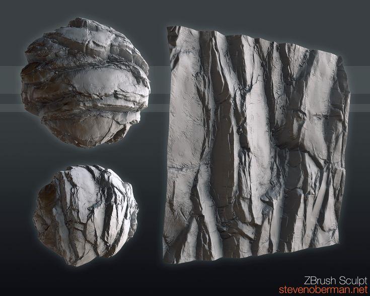 2.5D Tileable Rock Sculpt, Steven Oberman on ArtStation at https://www.artstation.com/artwork/LZa1v