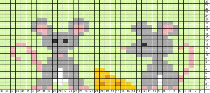 Tricksy Knitter Charts: mice and cheese