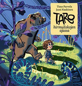 Taro hirmuliskojen ajassa on henkeäsalpaava seikkailukuvakirja kaikenikäisille. Se on palkittujen tekijöiden kolmas itsenäinen osa Tarosta ja hänen viisaasta karhuystävästään kertovassa sarjassa.
