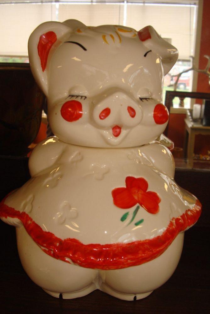 Vintage Dancing Pig Cookie Jar made by American Bisque
