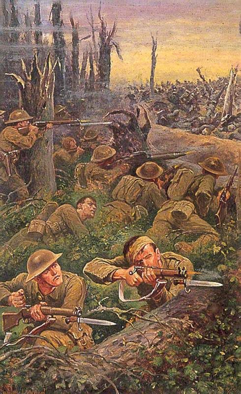 Trones Wood, the Somme, France, by Stanley Llewelyn Wood. Date painted: 1916