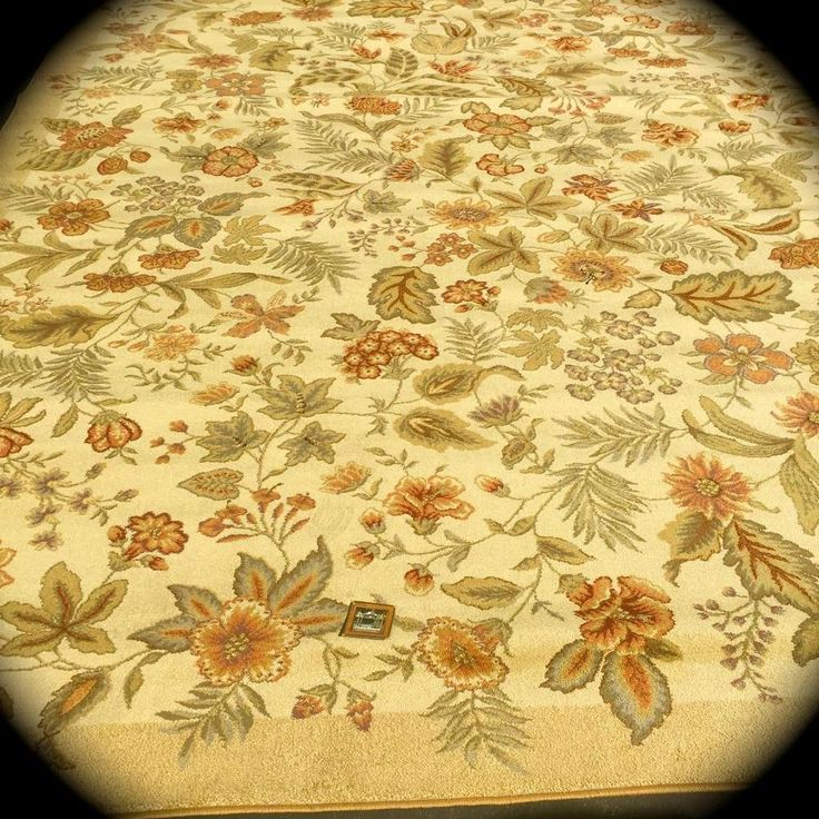 """Tommy Bahama COLLECTION by SHAW Rugs Olefin Garden Bloom Beige Rug~9 ' 5 """" X 13 #SHAWFORTOMMYBAHAMACOLLECTION #Contemporary"""
