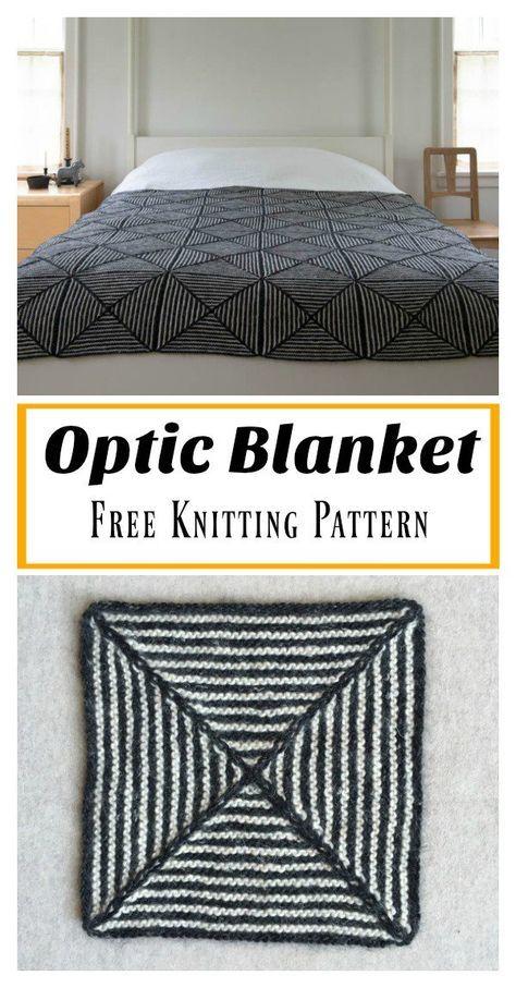 Cobertor ótico Padrão De Tricô Livre