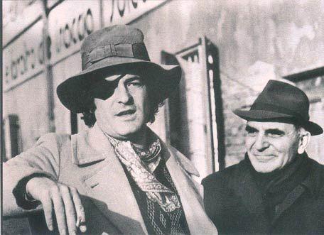 Attilio e Bernardo Bertolucci sul set di Novecento, 1975 #futurosemplice