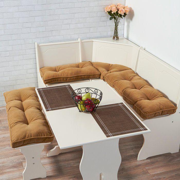 Cherokee Nook 4 Piece Bench Cushion Set Nook Cushion Nook Table Breakfast Nook Furniture