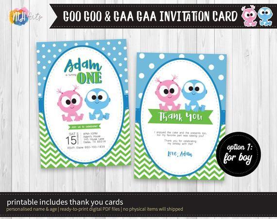Digital Printable Goo Goo Gaa Gaa Theme Birthday