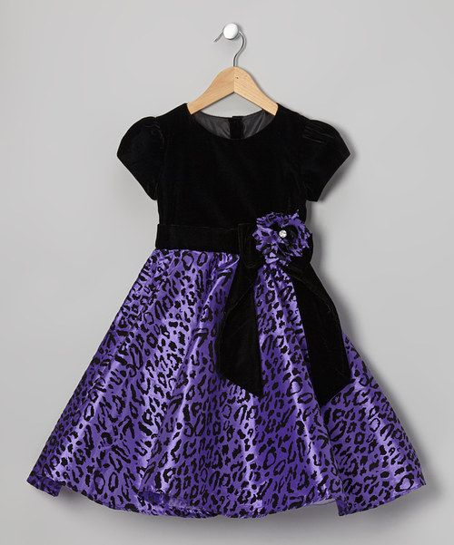 Take A Look At This Purple Amp Black Leopard Dress Toddler