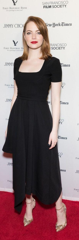 Emma Stone wearing Jewelry – Dana Rebecca Designs Dress – Preen Shoes – Jimmy Choo