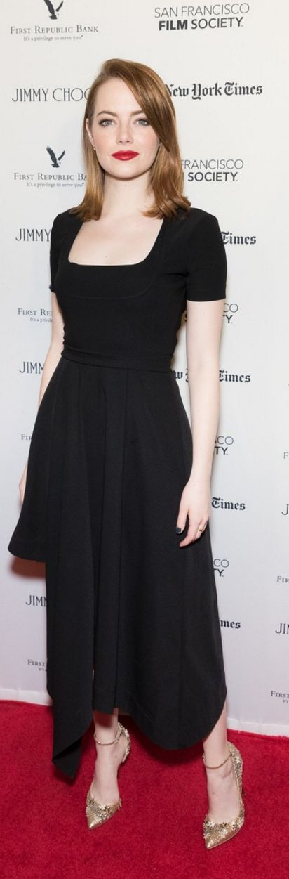 Emma Stone wearing Jewelry – Dana Rebecca Designs Dress – Preen Shoes – Jimmy Choo