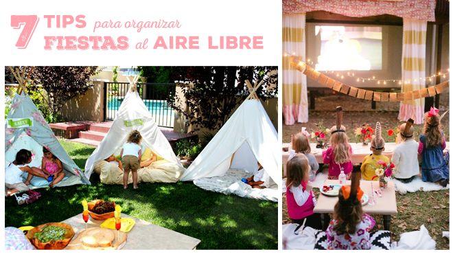 ¿Pensando en organizar una #fiesta al aire libre? Te damos 7 tips para organizarla #cumpleaños #babyshower #celebracion