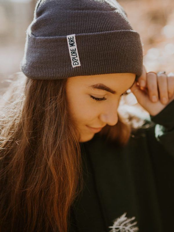 """Stay warm while exploring in the """"Explore More"""" beanie from www.chasingwonderment.com"""