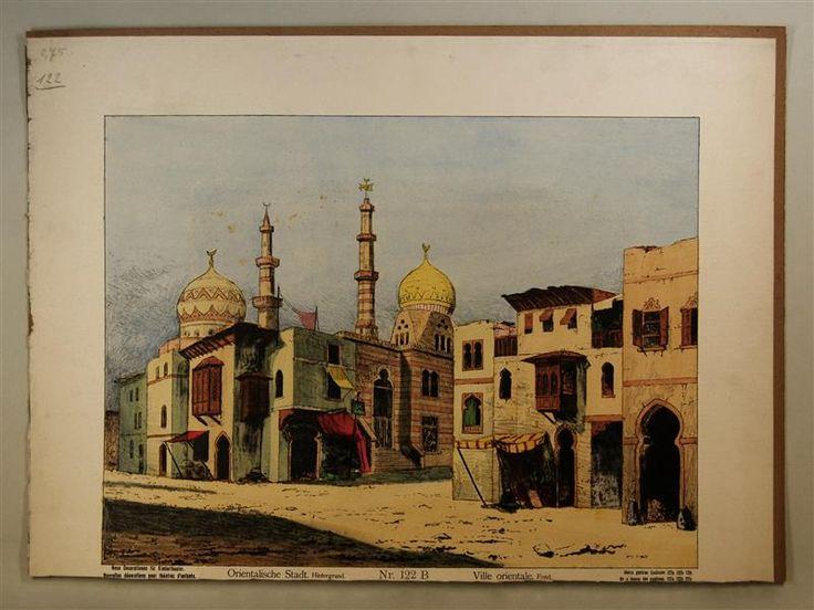 Orientalische Stadt. Hintergrund. Nr. 122 B [eigentlich Nr. 122].