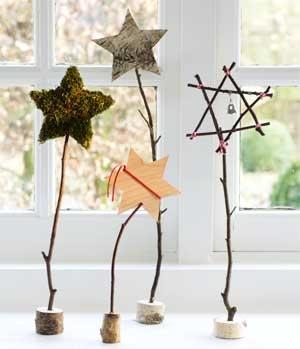 Sterne aus Holz/Ästen