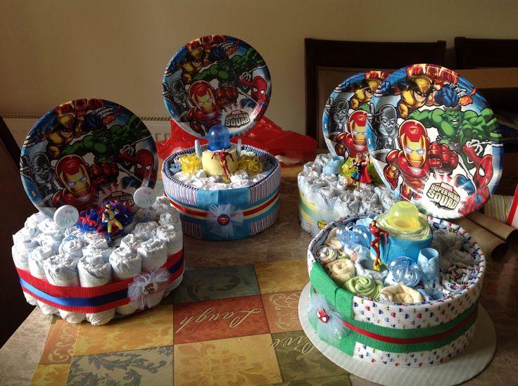 Marvel Super Hero Diaper Cakes