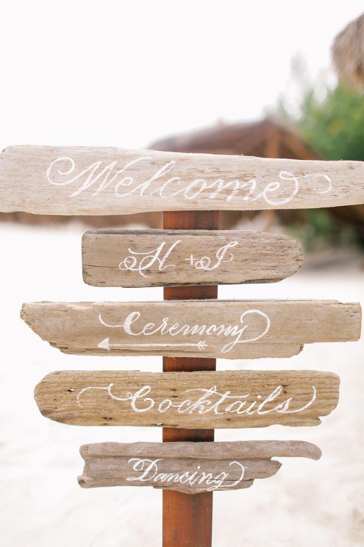 driftwood wedding sign