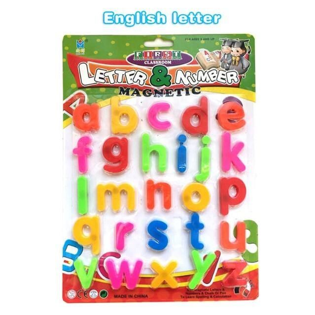 Arabic Kids Educational Letter Toys Fridge Magnet Magnetic Puzzle Toy alphabet Stickers Drawing board accessories toys for Kids