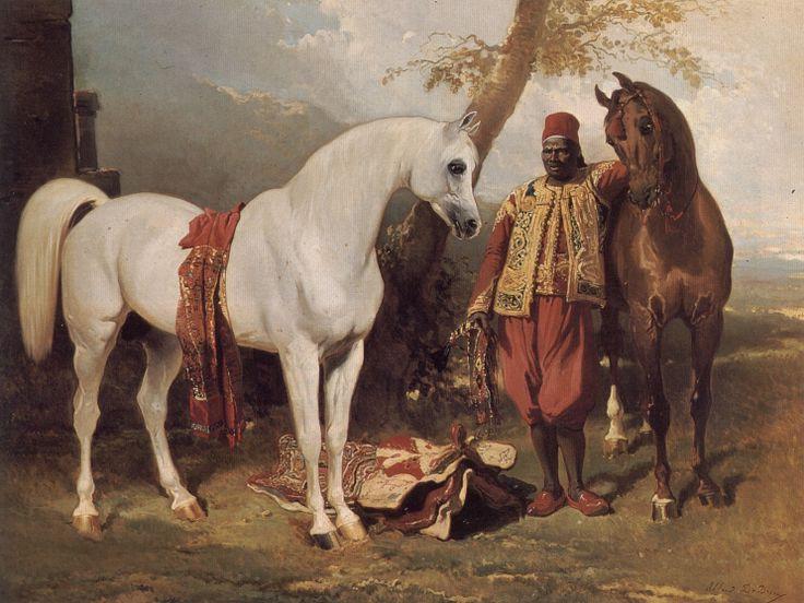 The Mounts of Abd El Kader, oil on canvas | artwork by Alfred de Dreux