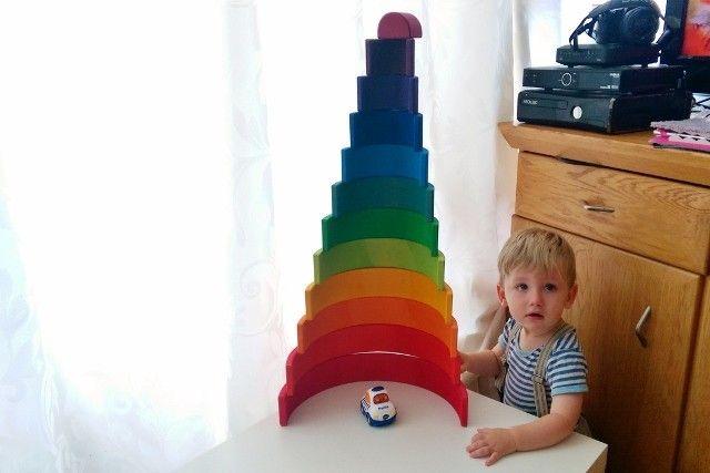 Grimm's houten regenboog - Mamaliefde