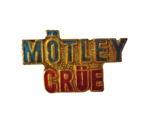 "vintage MOTLEY CRUE heavy metal enamel jacket pin 1980s skull shout at the devil by VintageTrafficUSA  14.00 USD  A vintage Motley Crue pin Excellent condition. Measures: approx 1"" or less Add inspiration to your handbag tie jacket backpack hat or wall. Have some individuality = some flair! 20 years old hard to find vintage high-quality cloisonne lapel/pin. Beautiful die struck metal pin with colored glass enamel filling. -------------------------------------------- SECOND ITEM SHIPS FREE IN…"