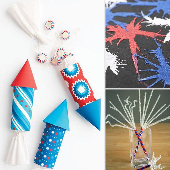 Fourth of July Fireworks Crafts For Kids. Maybe I can do these with Adley this year :)