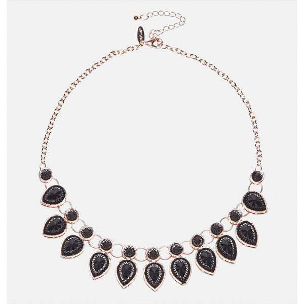 Avenue Jet Teardrop Bib Necklace (295 MXN) ❤ liked on Polyvore featuring jewelry, necklaces, plus size, rose gold, teardrop bib necklace, artificial jewellery, fake jewelry, bib necklaces and chain link jewelry