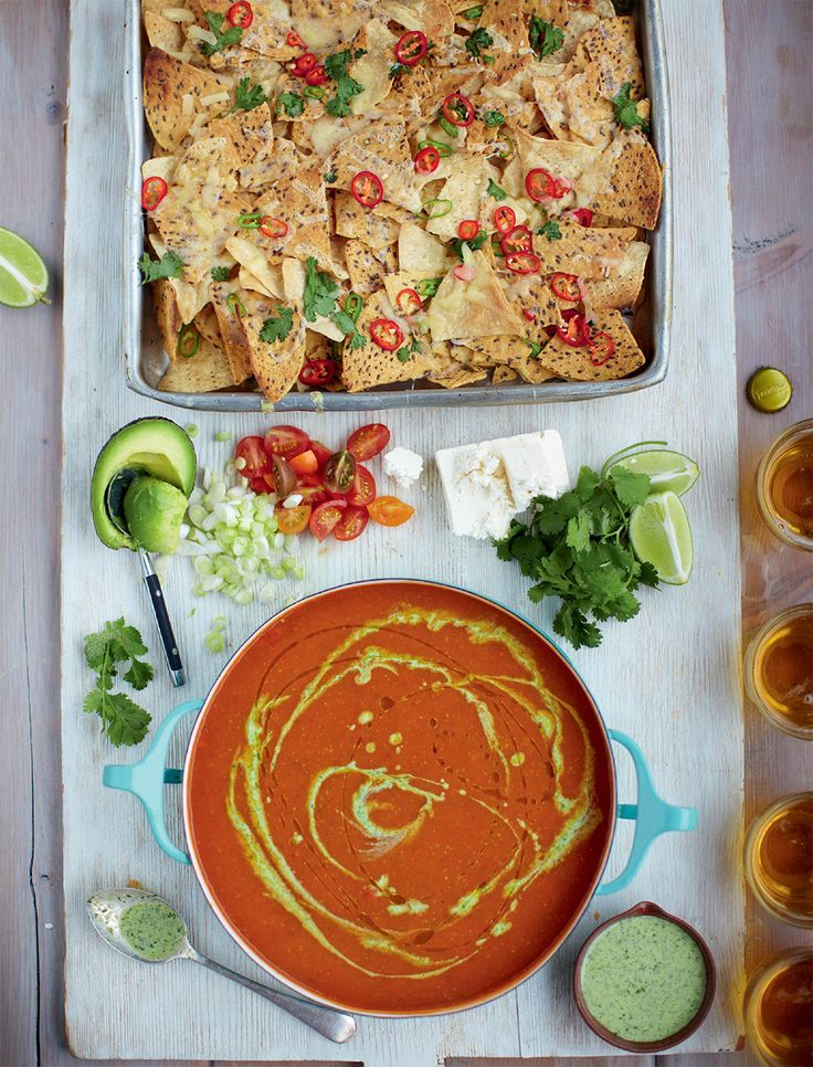 Recipe below extracted from Jamie's 15-Minute Meals ebook  SERVES 4 | 642 CALORIES Soup 1 small bunch of spring onions olive oil 1 bunch of fresh coriander 4 cloves of garlic 100g basmati ric...