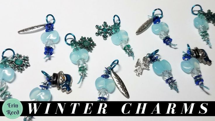 Frosty Winter Bead Charms for a Swap **GIVEAWAY**