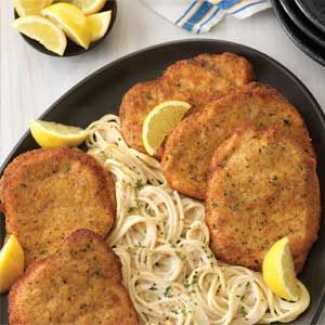 Recipe: Pork Milanese with Cacio e Pepe Spaghetti