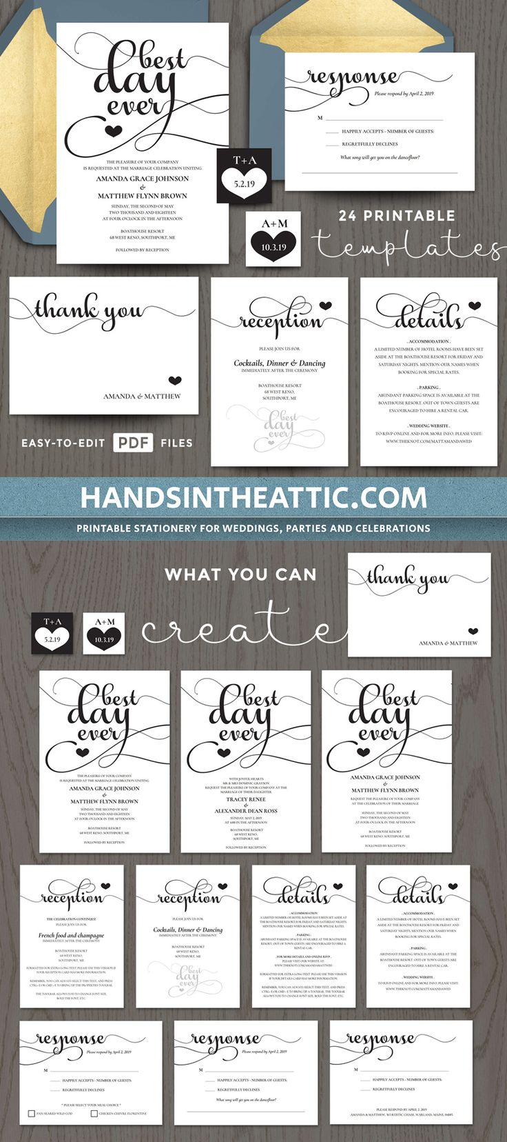 83 best Wedding Invitations images on Pinterest | My etsy shop ...