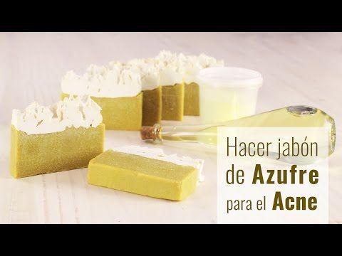 Hacer jabón de azufre para el acné - YouTube
