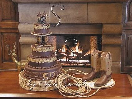 The 25 best Cowboy wedding cakes ideas on Pinterest Country