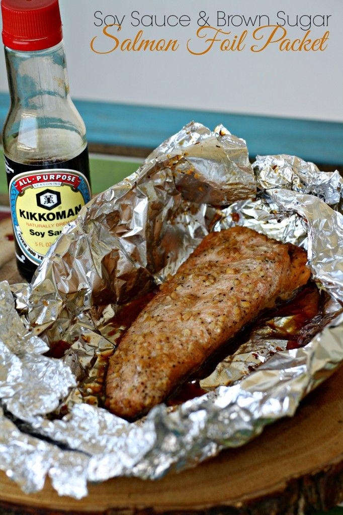 Soy sauce and brown sugar salmon foil packet for Fish foil packets oven