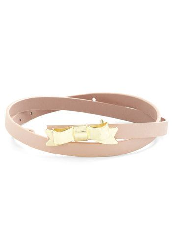 Tied with a Bow Belt in Rose Quartz, #ModCloth