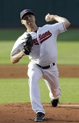 Indians starting pitcher Scott Kazmir delivers against the Cincinnati Reds during Thursday's game.