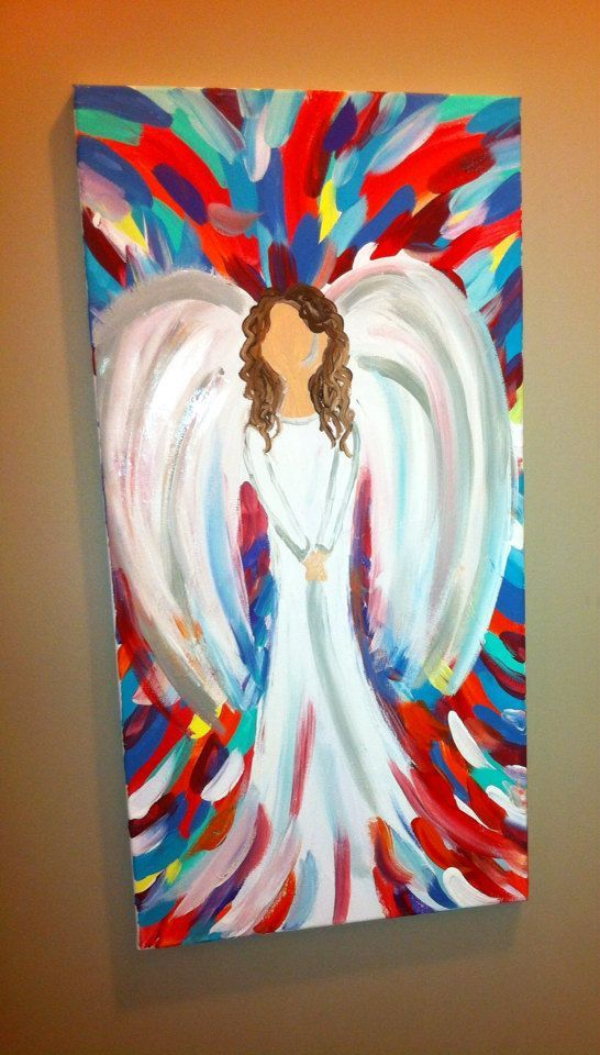 easy to paint angels on canvas | ... Canvas, Angels Projects, Angel Canvas Painting, Simple Angel Painting