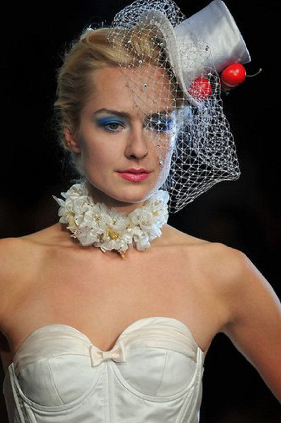 My bridal choker on Toronto Fashion Week.Wedding gown by Pat Mcdonagh.