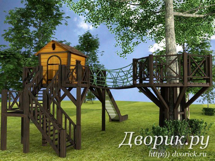 Домик на дереве «Оклахома» | Дворик.ру