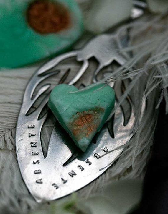 Absinthe Makes the Heart Go Fondant by EmpireEdibles on Etsy, £3.00  www.empireedibles.co.uk  #absinthe #fondant #green fairy