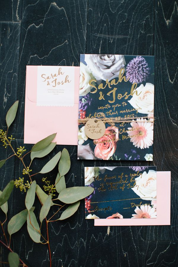 floral wedding invitation - photo by Allison Hopperstad Photography http://ruffledblog.com/wedding-ideas-inspired-by-floral-graffiti- **Explore Lots of Wedding Invitaion Sets !- GO TO... http://WeddingInvitationSets.com