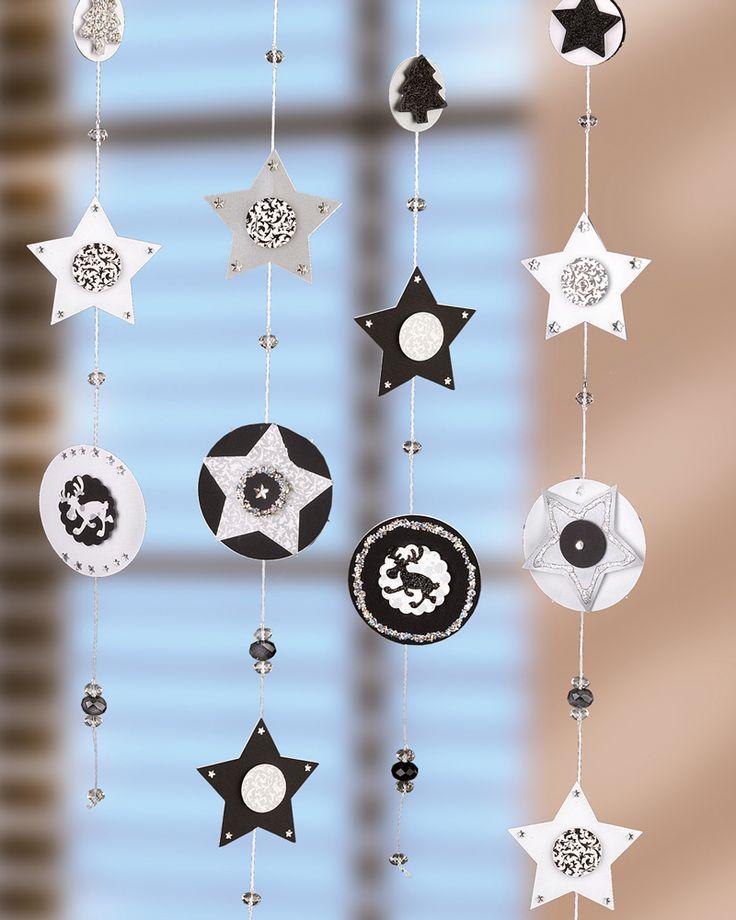 """Weihnachtliche Fensterdeko aus Papier (Idee mit Anleitung – Klick auf """"Besuchen""""!) -"""