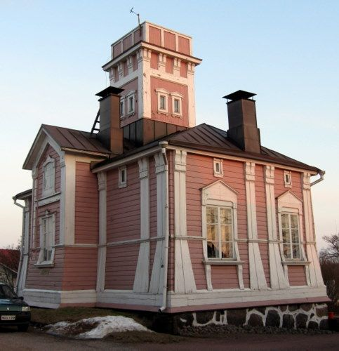 Old fire tower in Tammisaari (build in 1875). Until 1898 the building served also as a city jail.