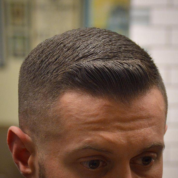 Ivy league haircut styled with a short quiff #militaryhaircuts #shorthairmen #menshair #menshorthair #crewcut #ivyleague