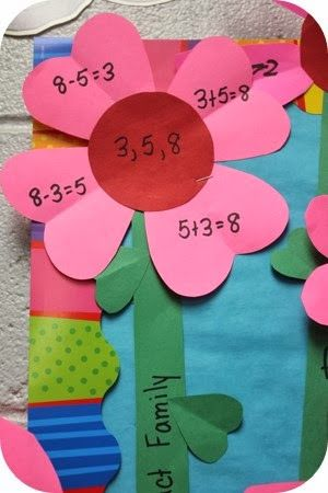 Fact Family Valentine's Day Flowers - Review fact families, symmetry, and make a cute craft!