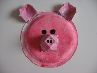 Paper Plate Pig Craft ~ No Time for Flash Cards